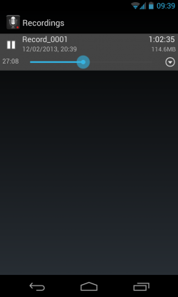 Smart Voice Recorder - Playback