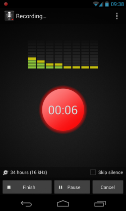Smart Voice Recorder - Recording