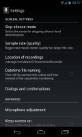 Smart Voice Recorder - Settings