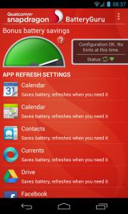 Snapdragon BatteryGuru (Beta) - App refresh settings