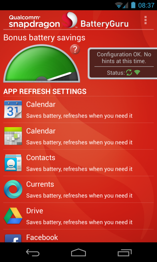 Snapdragon BatteryGuru (Beta) – takes care of saving precious battery life for you!