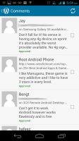 WordPress for Android - Comments