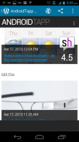 WordPress for Android - Live View of Website