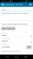 WordPress for Android - New Post