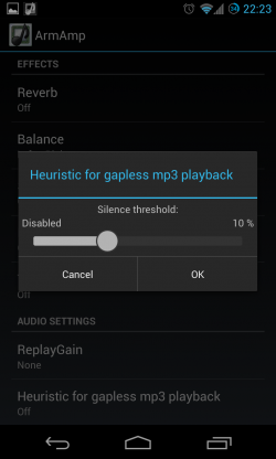ArmAmp - Gapless mp3 playback