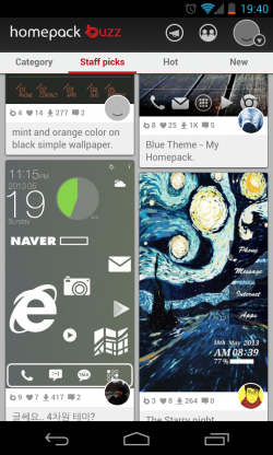 Buzz Launcher - Themes in Homepack Buzz