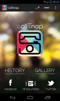 CallSnap - Main page