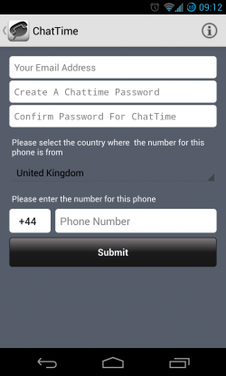 ChatTime - Create account 2