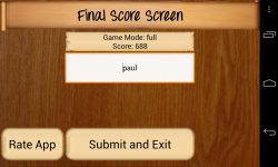 Countdown Game for Android - Final score submission