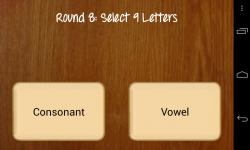 Countdown Game for Android - Letter selection