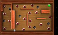 Crazy Labyrinth 3D - Click the green button, then avoid the red ones