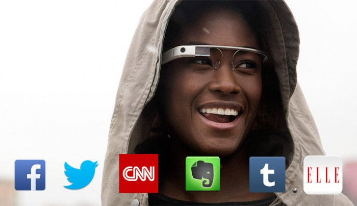 (New Apps) for Google Glass: Facebook, Twitter, CNN, Evernote, Tumblr, and Elle