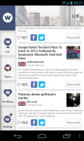 NewsWhip - Scrolling interface