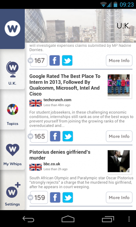 NewsWhip – get the hottest news stories in this reader app