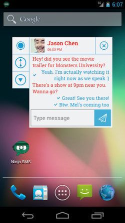 Ninja SMS - Pop up windows (themed) (2)
