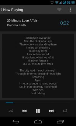 Now Playing - Lyrics