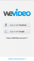WeVideo Video Editor - Login