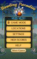 Bowling Paradise Pro FREE - Main Menu