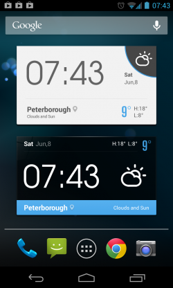 EZ Weather HD - Homescreen widgets