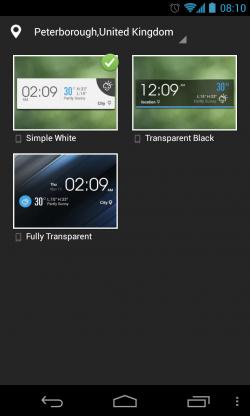 EZ Weather HD - Widget customisation (2)