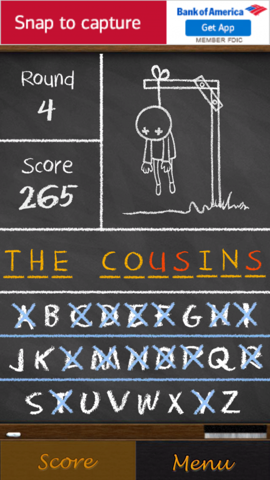 Hangman Free – play a nostalgic throwback game with many word lists