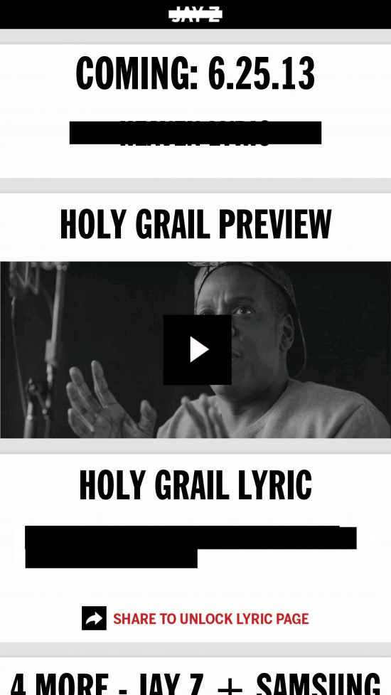 "(New App) Get Jay-Z's new ""Magna Carta Holy Grail"" album free with this app"