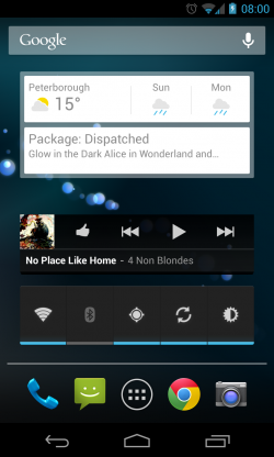 Three Homescreen Widgets
