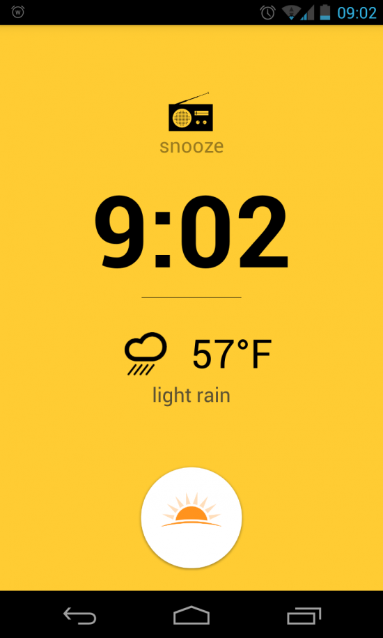 Warmly – a gentle alarm clock