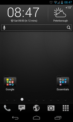 Yandex.Shell - Folders looks pretty cool
