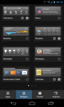 Yandex.Shell - Widgets