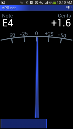 APTuner – Chromatic Tuner. Accurate Tune to E