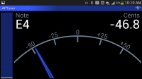 APTuner – Chromatic Tuner. Landscape View