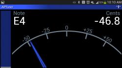 APTuner – Chromatic Tuner. Landscape View