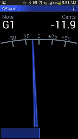 APTuner – Chromatic Tuner. Setting Tune 2
