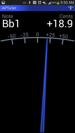 APTuner – Chromatic Tuner. Setting Tune