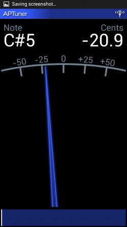 APTuner – Chromatic Tuner. Setting Tune 3