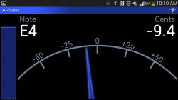 APTuner – Chromatic Tuner. Setting Tune 4