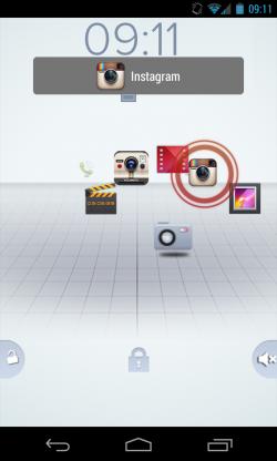 Active Lockscreen - Select app to open