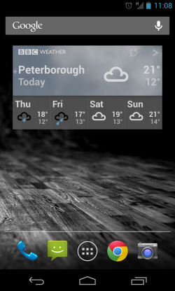 BBC Weather - 4x2 widget