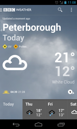 BBC Weather - Weather view (1)