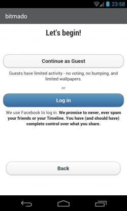 Bitmado - Yeah, Facebook login unfortunately