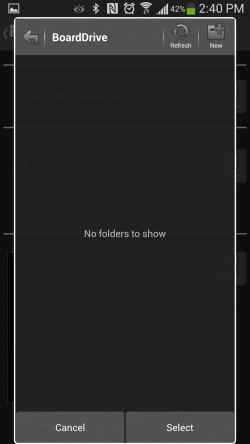 BoardDrive - Folder Select