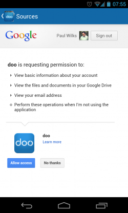 Doo - Permission request