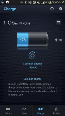 Du Battery Saver - Time Left Until Full Charge