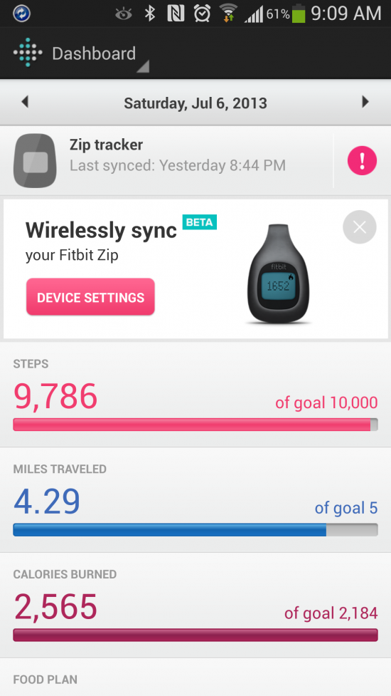 Fitbit – companion app for popular wearable fitness trackers