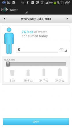 Fitbit - Water Intake
