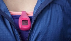 Fitbit Zip Attached to Clothing
