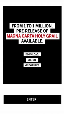 JAY Z Magna Carta - Enter Pre-Release Album