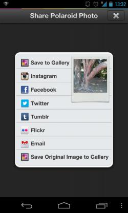 Polamatic for Polaroid - Save and share