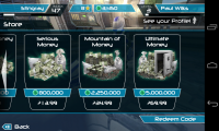 Riptide GP2 - Piles of money in exchange for piles of money